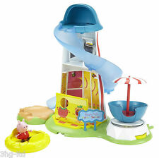 Peppa Pig Helter Skelter & Figure Playset Toy Theme Park Fairground Boxed NEW
