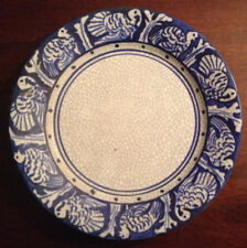 RARE ANTIQUE EARLY 20TH C DEDHAM POTTERY TURKEY BREAKFAST PLATE