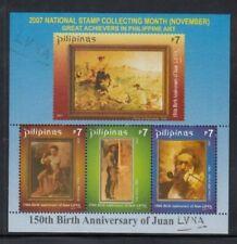 PHILIPPINES 150th Birth Anniversary of Juan Luna MNH souvenir sheet