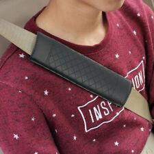 2pcs Black Car Safety Belt Covers Leather Seat Belt Shoulder Pad Adjustable New