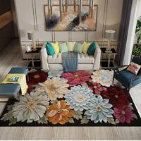 3D Handmade Classical Flower Carpet Non Slip Area Rug Living Room Floor Mat