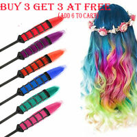 6or1 PCS Temporary Hair Chalk Hair Color Comb Dye Salon Kits Party Fans Cosplay