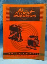 Tools, Hardware & Locks Price Guides & Publications Abart Speed Reducers 1947 Catalog Manual Gear Machine Chicago Illinois Vintage