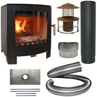 Aduro 16 5Kw Woodburner Wood Burning Stove & Complete 10m Liner Install Kit!