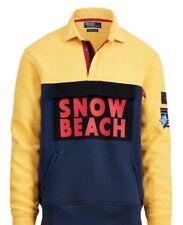 Polo Ralph Lauren Snow Beach Yellow Fleece Rugby Shirt Vintage Cp93 Size XL