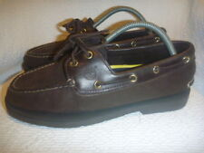 TIMBERLAND BLUFF 2 EYE BROWN LEATHER BOAT SHOES SIZE UK 7.5 US 8 WIDE