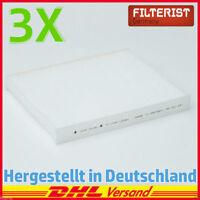 3x Filteristen Innenraumfilter Pollenfilter AUDI SEAT SKODA VW Mercedes W463
