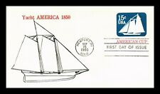 DR JIM STAMPS US YACHT AMERICAS CUP UNSEALED FDC POSTAL STATIONERY COVER