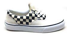 Vans Unisex Adult Era Primary Check Skate Shoe White Black Mens 5.5 Womens 7