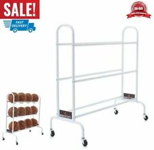Basketball Rack Storage Cart Rolling Hold 12 Ball Sport Volleyball Soccer New
