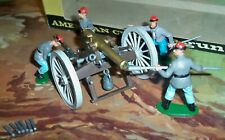 Britains Boxed 4465 Federal A.C.W. Gun Team with Gun Confederate Soldiers
