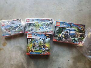 75915 75916 75917 75920 LEGO lot 4 sets Jurassic World RAPTOR RAMPAGE Dinosaurs