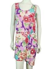 BCBG Maxazria Sleeveless Dress XL Pink Floral Origami Knit Gathered New 140