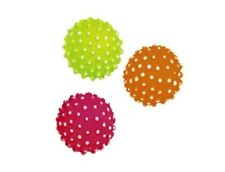 3-er Set Moosgummi Noppenbälle 7,2 cm schwimmfähig Hundespielzeug Ball Gummiball