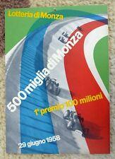 Lotteria di Monza 1958 - 500 Miglia Monza  window card by Max Huber