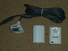 Microsoft Xbox 360 Play & Charge Kit NOUVEAU! 2 x Batterie Packs + USB Câble de charge