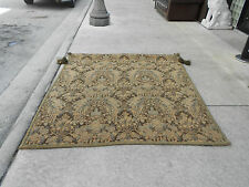 Italian Banister, Lion's Head, and Floral Tapestry Decorative Woven
