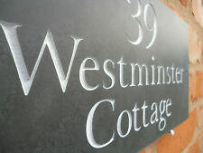 Quality Personalised Slate House Sign 300mm x 150mm premium slate fast dispatch