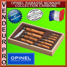 OPINEL COFFRET RAMASSE MONNAIE 10 COUTEAUX CARBONE N2 A N12 / 945.B