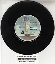 """HOT CHOCOLATE  It Started With A Kiss 7"""" 45 rpm record + juke box title strip"""