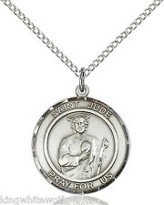 Bliss St Jude Thaddeus Patron Saint Sterling Silver Medal Pendant Necklace