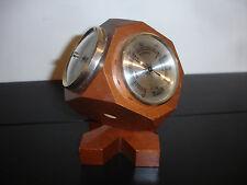 ELGIN Barometer Hygrometer Thermometer Combo Wood Desk Ornament Japan