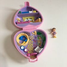 Polly Pocket Pink Heart 1993 Cosy Kitties With Doll