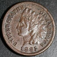 1885 INDIAN HEAD CENT With LIBERTY - VF VERY FINE Details