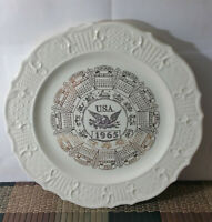 1 Vintage 1965 Canonsburg Pottery Collectible Plate w/Calendar & Zodiac USED/VG