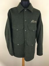 VINTAGE Mens Filson Mackinaw Cruiser Jacket HuntIng Coat Green 100% Wool Heavy