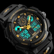 Shock Men Sport Analog Digital LED Alarm Date Quartz Wrist Watch Army Waterproof