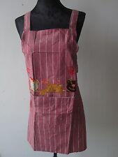 Schürze Latzschürze Küchenschürze Trägerschürze Kochschürze Gestreift mit Tasche