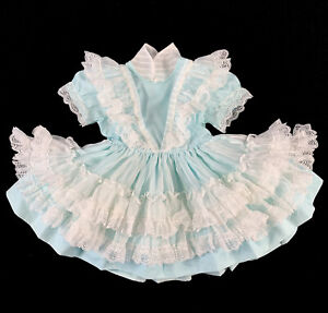 Vintage Betty Oden Dress Ruffle Layered Frilly Lace Full Circle Pageant 3T