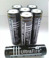 4x  3.7V  18650 Li-ion Rechargeable Battery for Flashlight UltraFire