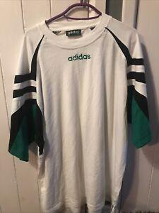 Retro Vintage 90's ADIDAS TREFOIL T Shirt Size D8 XXL 2XL