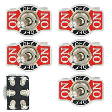 5 X Heavy Duty 20A 125V 250V 15A DPDT 6Pin On/Off/On Momentary Toggle Switch