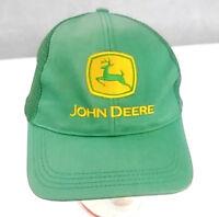 John Deere snapback hat tractor baseball Trucker cap Rare Green deer on yellow