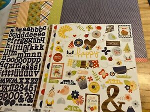 Simple Stories, Bloom and Grow, Scrapbooking Kit, EIGHT Papers and 2 Stickers