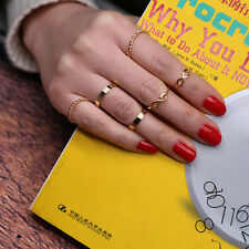 6 Pcs/Set Rings Gold Stack Cute Above Knuckle Ring Band Midi Ring Good Quality