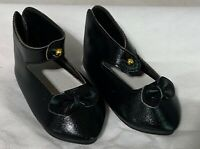 New French Style Leather Doll Shoes 58mm for Antique Bisque / Artist Repro Dolls