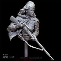 World War II female sniper Resin Bust 1/10 Model Kits GK Unpainted YUFAN