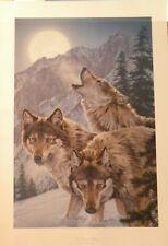 "Lee Kromschroeder WOLF Print ""MOON DANCERS"" S/N Limited Edition # 608 of 1610"