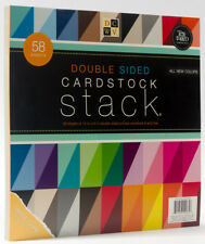 DCWV Double Sided Cardstock Stack, Textured, 58 Sheets, 12 x 12 inches