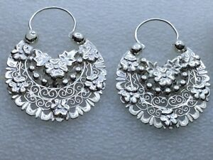 Arracadas Jerezanas #7 doble vista, silver .950 handmade Jerez Zacatecas via DHL