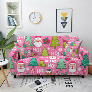 Merry Christmas Series Stretch Slipcover for Home Sofa Couch Protective Cover