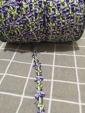 15mm Beautiful rococo Flower Ribbon Cord Craft bow trim Purple Green Per Meter