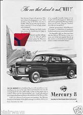 MERCURY MOTOR CARS 1940 V-8 THE CAR THAT DARED TO ASK WHY? DOUGLAS DC-3 AD