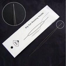 HOT! 1pc BIG EYE Beading Needle Stainless Steel 57mm Jewelry Bracelet Necklace