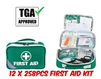 12x258pcs First Aid Kit Family Supply Medical Workplace Home Hiking Travel TGA