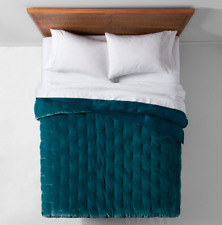 Target Opal House Collection Velvet Tufted Stitch Quilt, Twin, Twin XL , TEAL